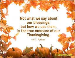 thanksgiving use your blessings
